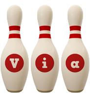 Via bowling-pin logo