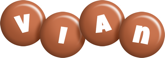 Vian candy-brown logo