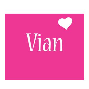Vian love-heart logo