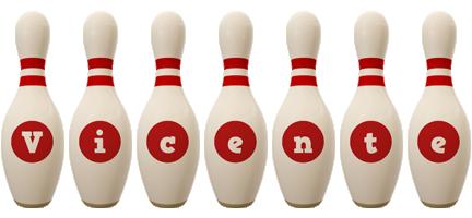 Vicente bowling-pin logo