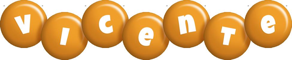 Vicente candy-orange logo