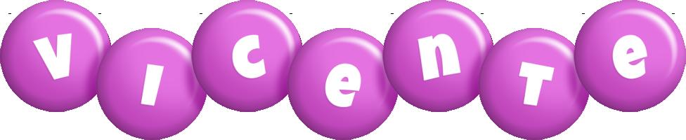 Vicente candy-purple logo