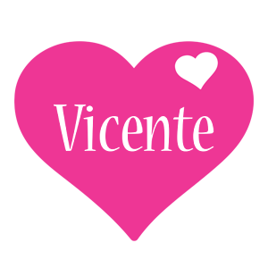 Vicente love-heart logo
