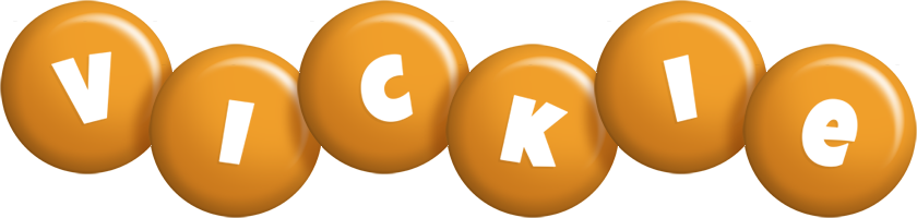 Vickie candy-orange logo