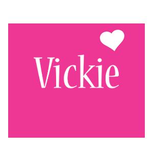 Vickie love-heart logo