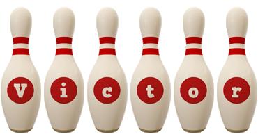 Victor bowling-pin logo