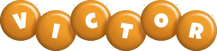 Victor candy-orange logo