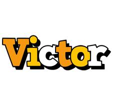 Victor cartoon logo