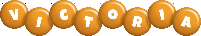 Victoria candy-orange logo