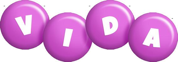 Vida candy-purple logo