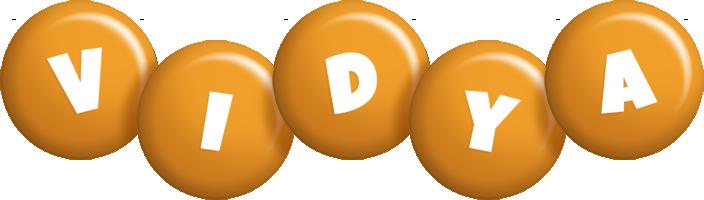 Vidya candy-orange logo