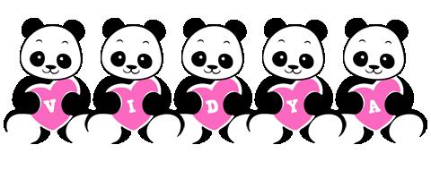 Vidya love-panda logo