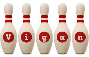 Vigan bowling-pin logo
