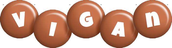 Vigan candy-brown logo