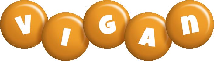 Vigan candy-orange logo
