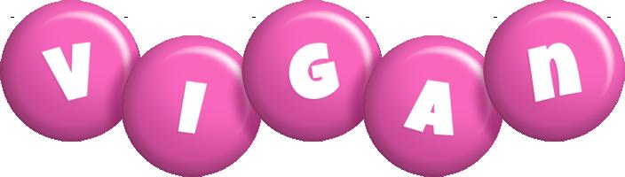 Vigan candy-pink logo