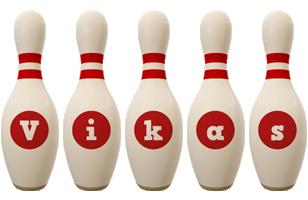 Vikas bowling-pin logo