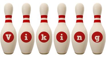 Viking bowling-pin logo