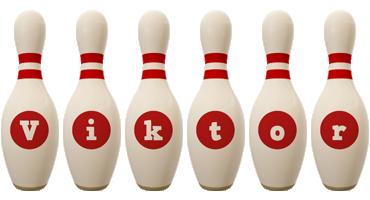 Viktor bowling-pin logo