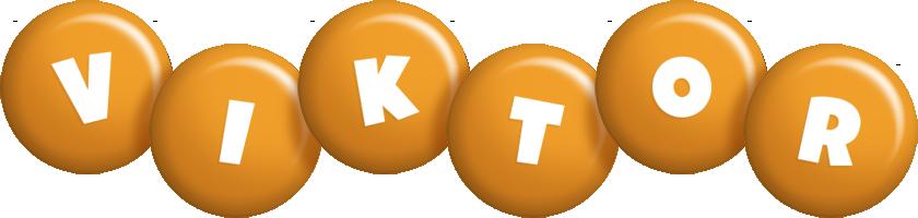 Viktor candy-orange logo