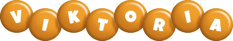 Viktoria candy-orange logo