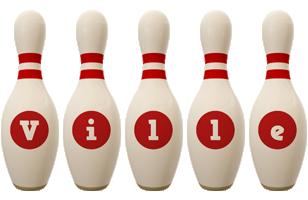 Ville bowling-pin logo
