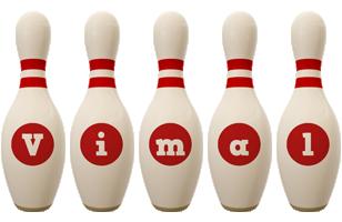 Vimal bowling-pin logo