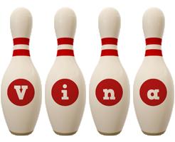 Vina bowling-pin logo