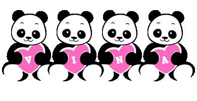 Vina love-panda logo