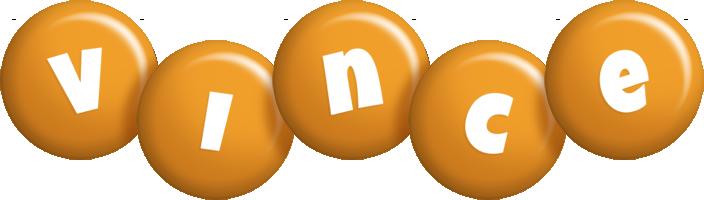 Vince candy-orange logo