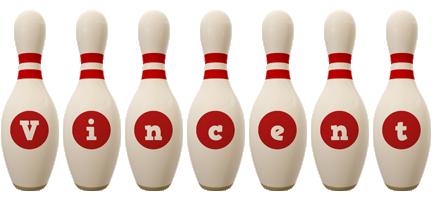 Vincent bowling-pin logo