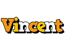 Vincent cartoon logo