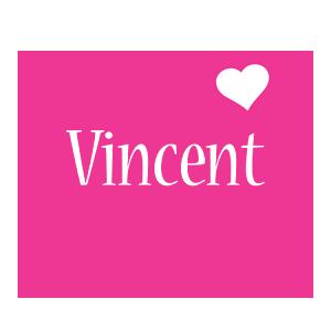 Vincent love-heart logo