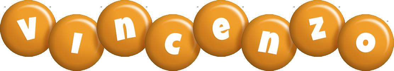 Vincenzo candy-orange logo