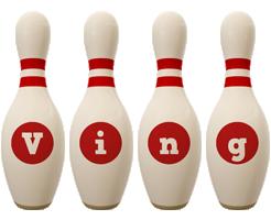 Ving bowling-pin logo