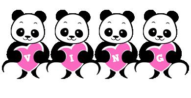 Ving love-panda logo