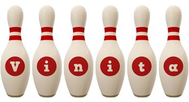 Vinita bowling-pin logo