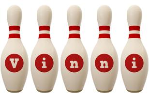Vinni bowling-pin logo