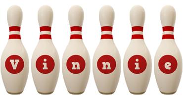 Vinnie bowling-pin logo