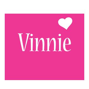 Vinnie love-heart logo