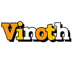 Vinoth cartoon logo