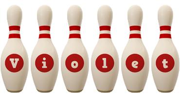 Violet bowling-pin logo
