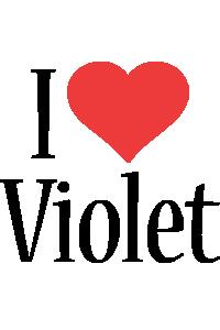 Violet i-love logo