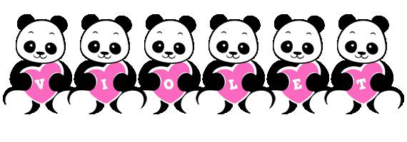 Violet love-panda logo