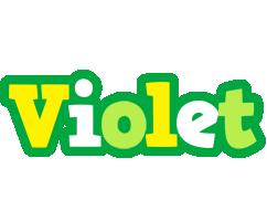 Violet soccer logo