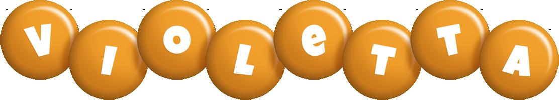 Violetta candy-orange logo
