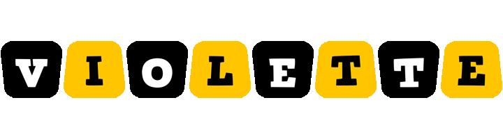 Violette boots logo