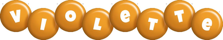 Violette candy-orange logo