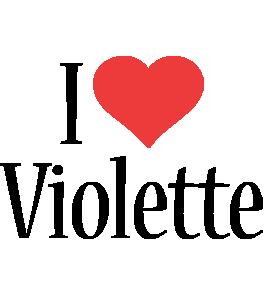 Violette i-love logo
