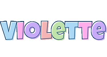Violette pastel logo